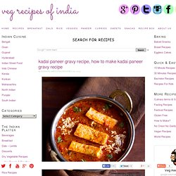 kadai paneer gravy recipe, how to make kadai paneer gravy recipe