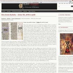 Idra Zouta Kadisha – Zohar III, 287B à 296B « Textes Traditionnels « Kabbale