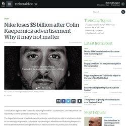 Nike loses $5 billion after Colin Kaepernick advertisement - Why it may not matter