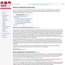 Wiener Kaffeehausliteratur – WienWiki
