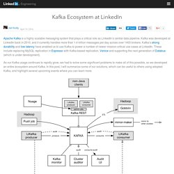 Kafka Ecosystem at LinkedIn