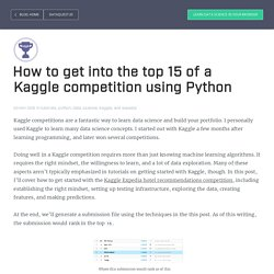 How to get into the top 15 of a Kaggle competition using Python