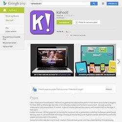 Kahoot! - Aplikace pro Android ve službě Google Play