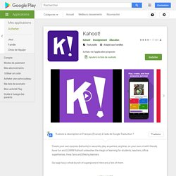 Kahoot! – Applications Android sur GooglePlay