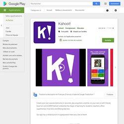 Kahoot! – Applications sur GooglePlay