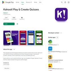 Kahoot! - Apps on Google Play