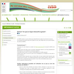 Kahoot ! Un quiz en ligne interactif et gratuit !