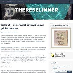 Kahoot – ett snabbt sätt att få syn på kunskaper – ThereseLinnér