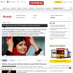 Prix Nobel de la paix 2014: Malala et Kailash Satyarthi