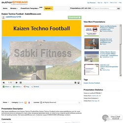 Kaizen TechnoFootball - Sabkifitness.Com