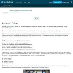Kaizen in Office: Vedzen Company