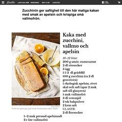 Kaka med zucchini, vallmo och apelsin