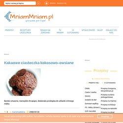 Kakaowe ciasteczka kokosowo-owsiane