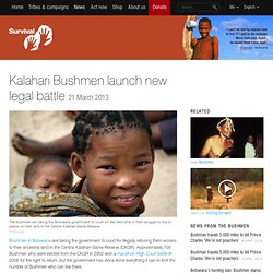 Kalahari Bushmen launch new legal battle