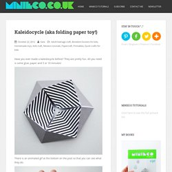 Kaleidocycle {aka folding paper toy!}