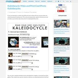 Kaleidocycle: Make and Print Cool Photo Kaleidocycles