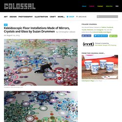 Kaleidoscopic Floor Installations Made of Mirrors, Crystals and Glass by Suzan Drummen