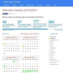Kalendarz Szkolny 2012/2013