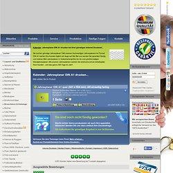 Jahresplaner: Jahresplaner DIN A1 drucken - Sparen Sie bis zu 50% beim Druck! - Druckerei WIRmachenDRUCK GmbH