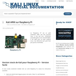 Kali ARM sur Raspberry Pi