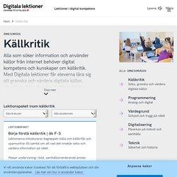 Källkritik - Digitala lektioner