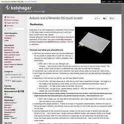 kalshagar - Arduino and a Nintendo DS touch screen