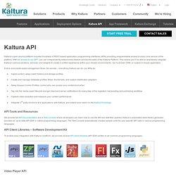 Kaltura API