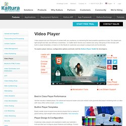 Kaltura Video Player