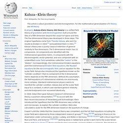 Kaluza–Klein theory