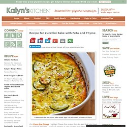 Recipe for Zucchini Bake with Feta and Thyme