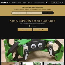 Kame, ESP8266 based quadruped