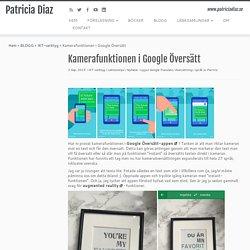 Kamerafunktionen i Google Översätt