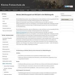 Kameraparameter beim Blitzen - KLEINE-FOTOSCHULE.DE