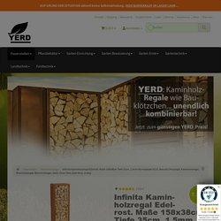 Kaminholzregal PRIMATERRA Edelrost. Maße 158x38cm Tiefe 35cm - YERD Gartendeko, Gartentechnik und Landtechnik Lagerverkauf, 147,29 €