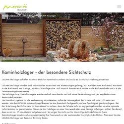 Kaminholzregale aus Metall, für Haus und Garten