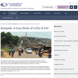 Kampala: A Case Study of a City in a poorer country