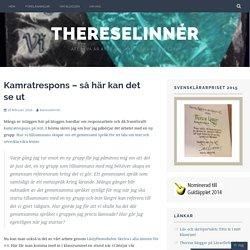 Kamratrespons – så här kan det se ut – ThereseLinnér