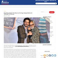 King Khan Steals The Show As He Hugs Sanjay Mishra At 'Kamyaab' Screening