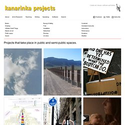 kanarinka projects » Public space