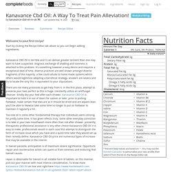 Kanavance Cbd Oil: A Way To Treat Pain Alleviation!