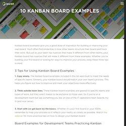 10 Kanban Board Examples