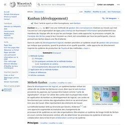 Kanban (développement)