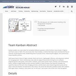 Team Kanban – Scaled Agile Framework