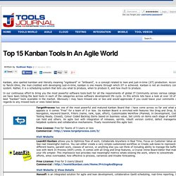 Tools Journal - Top 15 Kanban Tools In An Agile World