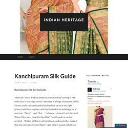 Kanchipuram Silk Guide