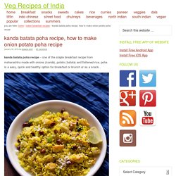 kanda batata poha recipe, how to make onion potato poha recipe