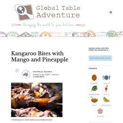Brochettes de kangourou mangue et ananas