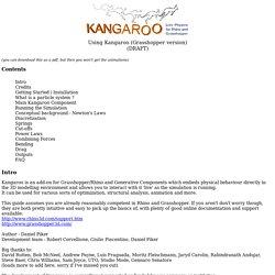 Kangaroo Manual (Grasshopper version)