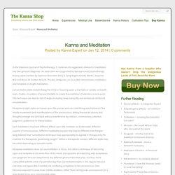 Kanna and Meditation