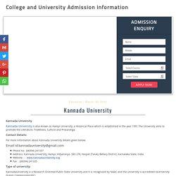 Kannada University - 2017-18